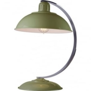 Franklin Green Table Lamp Polished Chrome