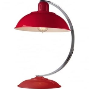 Franklin Red Table Lamp Polished Chrome