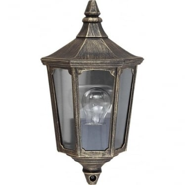 GZH Cricklade wall lantern - Black/Gold