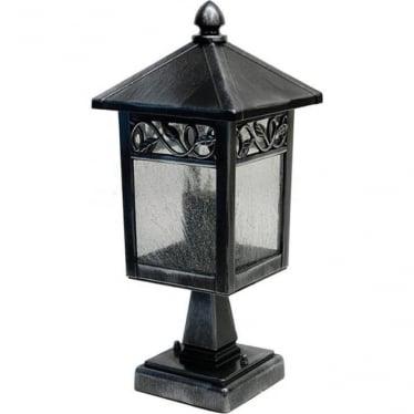 GZH Winchcombe pedestal lantern - Black/Silver