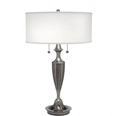 Gatsby Zinc Cast Table Lamp Antique Nickel