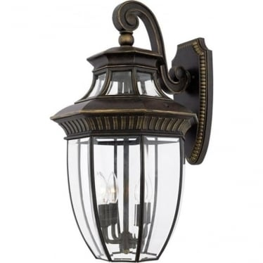 Georgetown 2 large wall lantern - Bronze