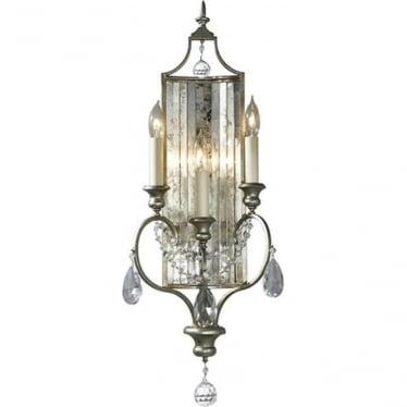 Gianna 3 Light Wall Light Gilded Silver
