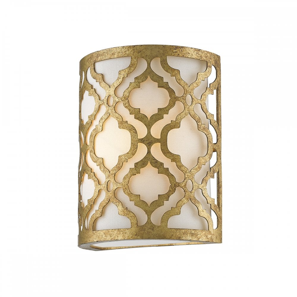 Arabella Single Wall Light, Distressed Gold from Moonlight Design