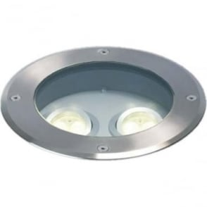 GL08 Twin LED MAINS Drive Over ground light - stainless steel
