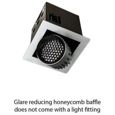 Glare reducing honeycomb baffle