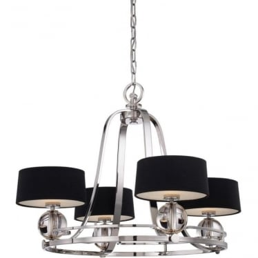Gotham 4 light Chandelier Imperial Silver