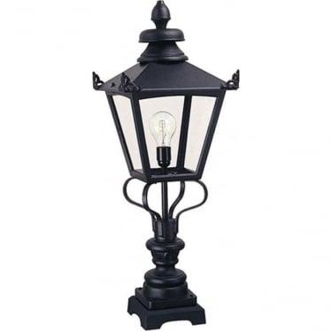Grampian Pedestal Lantern - Black
