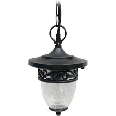 GZH Burford pendant chain lantern - Black
