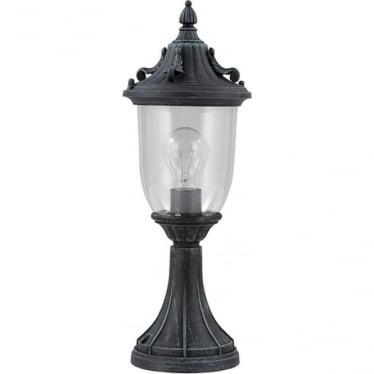 GZH Elkstone pedestal lantern - Verdigris