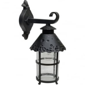 GZH Evesham medium wall lantern - Black/Rust