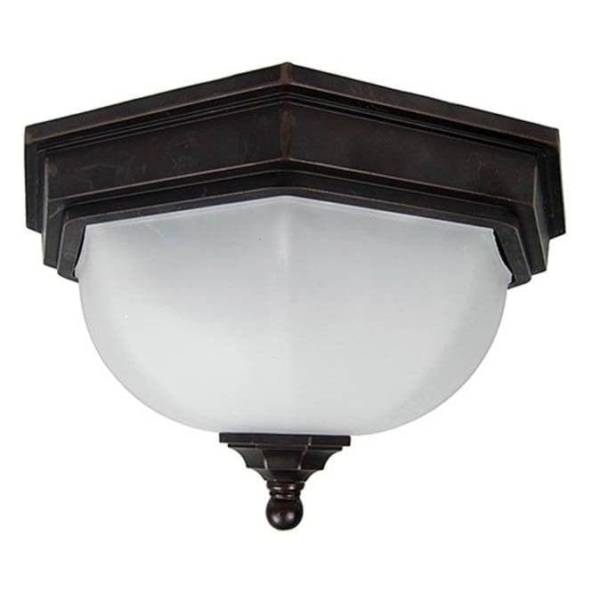 Gardenzone GZH Fairford flush ceiling lantern - Old Bronze