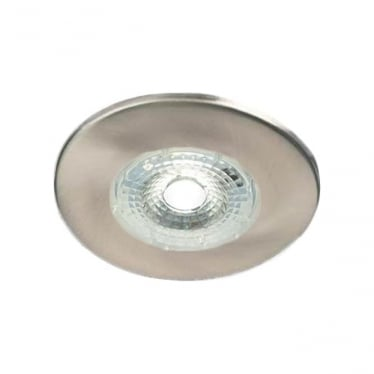 H2 Lite FLICKER FREE DIMMABLE FIRE-RATED LED DOWNLIGHT WITH BEZEL - brushed steel