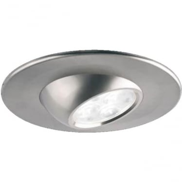 H4 Eyeball Adjustable Fire-Rated LED Downlight - Brushed Steel