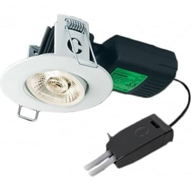 H4 Pro 700 T ADJUSTABLE DIMMABLE FIRE-RATED LED DOWNLIGHT WITH T CONNECTOR - Matt White