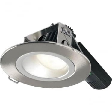H5 1000 Asymmetric Low Glare Fire-Rated LED Downlight - Brushed Steel