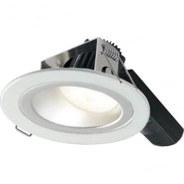 H5 1000 Asymmetric Low Glare Fire-Rated LED Downlight - White