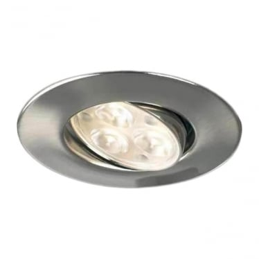 H4 FF Adjustable Dimmable Fire-Rated LED Downlight - BRUSHED STEEL