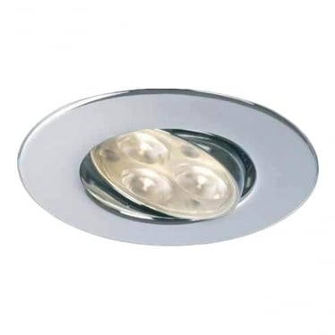 H4 FF Adjustable Dimmable Fire-Rated LED Downlight - CHROME