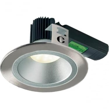 H5 1000 Symmetric Low Glare Fire-Rated LED Downlight - Brushed Steel