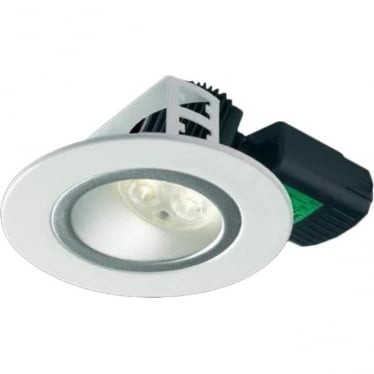 H5 500 Asymmetric without terminal block Low Glare Fire-Rated LED Downlight - White