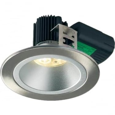 H5 500 Symmetric without terminal block Low Glare Fire-Rated LED Downlight - Brushed Steel
