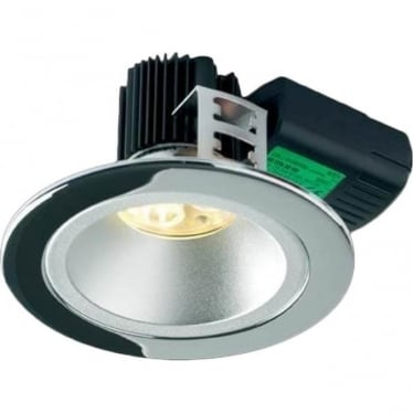 H5 500 Symmetric without terminal block Low Glare Fire-Rated LED Downlight - Chrome
