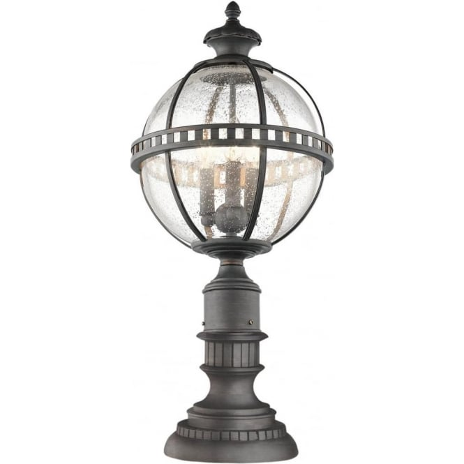 Kichler Halleron 3 light Pedestal Lantern Londonerry