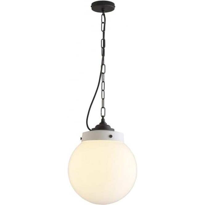 Original BTC Lighting Hampton pendant size 2 - opal and weathered brass
