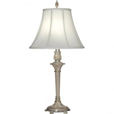 Hampton Table Lamp Milano Silver