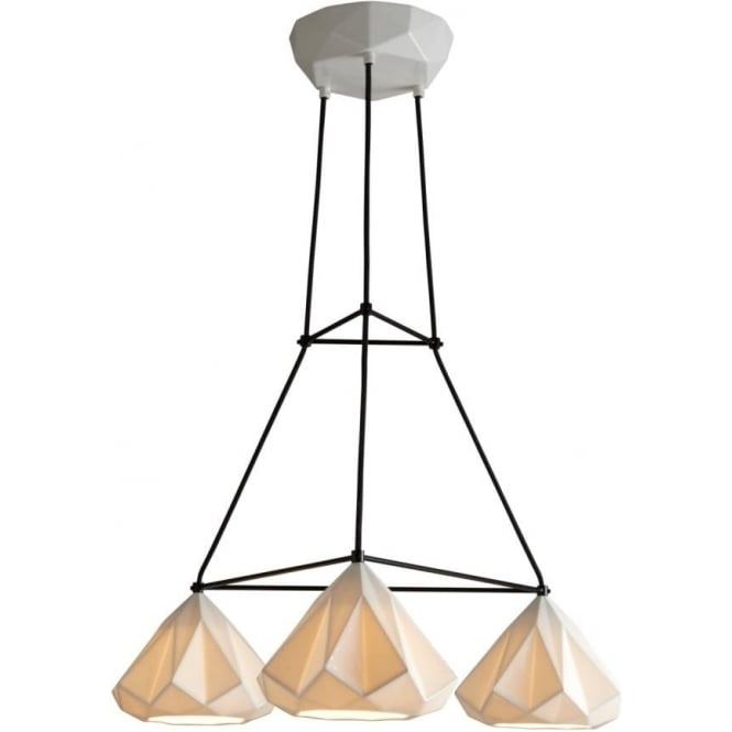 Original BTC Lighting Hatton 1 Triangular Grouping - Natural