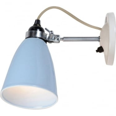 HECTOR MEDIUM DOME WALL LIGHT, Switched - colour options