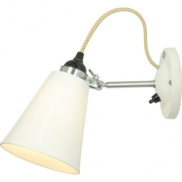 HECTOR MEDIUM FLOWERPOT SWITCHED WALL LIGHT - Natural White