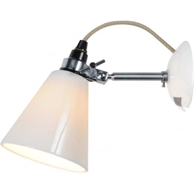 Original BTC Lighting HECTOR MEDIUM FLOWERPOT WALL LIGHT - natural White