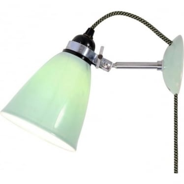 HECTOR SMALL DOME WALL LIGHT PLUG, SWITCH & CABLE - colour options