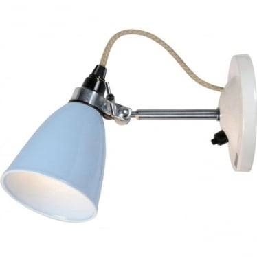 HECTOR SMALL DOME WALL LIGHT SWITCHED - colour options