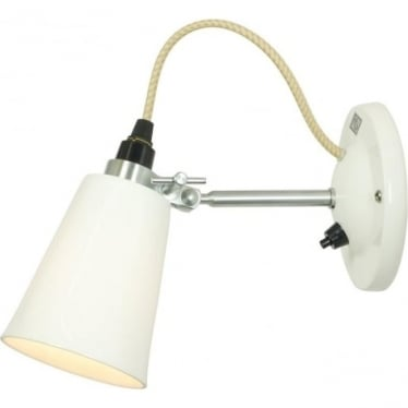 HECTOR SMALL FLOWERPOT SWITCHED WALL LIGHT - Natural White