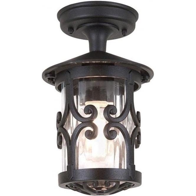 Elstead Lighting Hereford Rigid Tube Lantern - Black