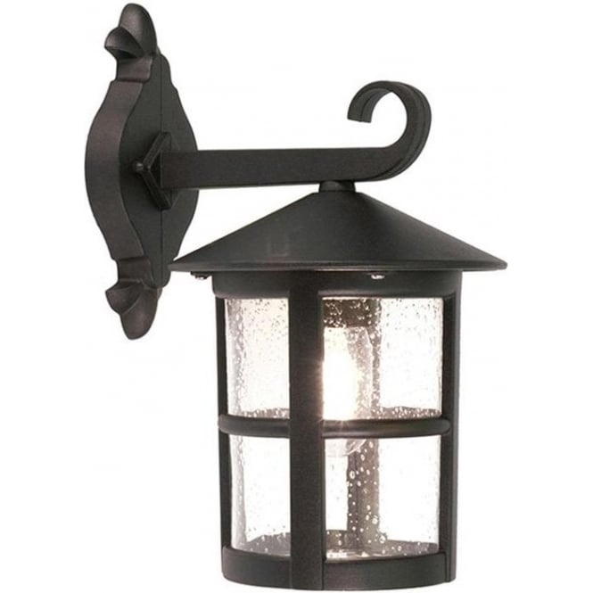 Elstead Lighting Hereford Wall Down Lantern - Black