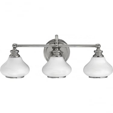 Ainsley 3 Light Bathroom LED Wall Light IP44 Polished Chrome