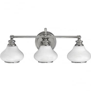 Ainsley 3 Light Bathroom LED Wall Light IP44 Polished Chrome