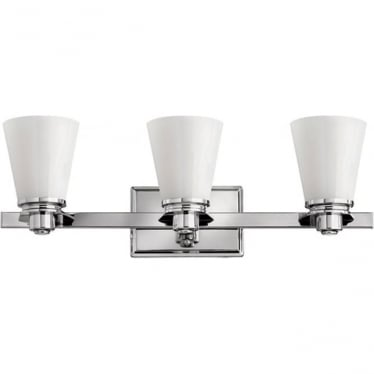 Avon 3 light Above Mirror Fitting Polished Chrome