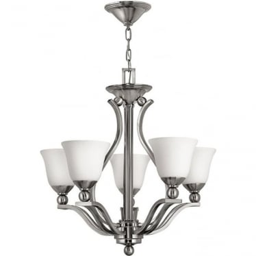 Bolla 5 light Chandelier Brushed Nickel
