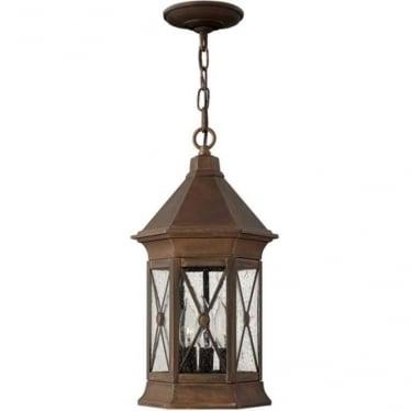 Brighton chain lantern - Brass
