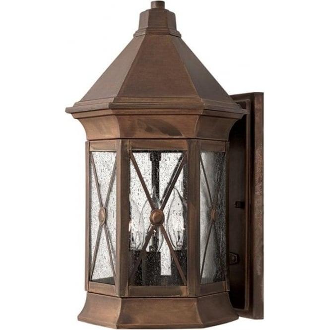 Hinkley Lighting Brighton medium wall lantern - Brass