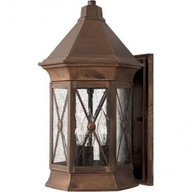 Brighton medium wall lantern - Brass