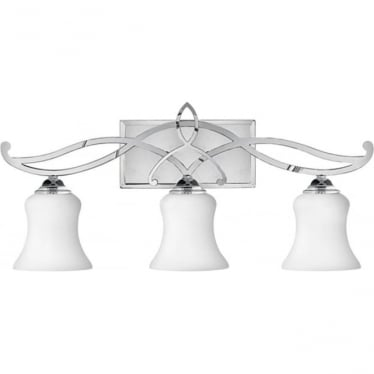 Brooke 3 Light Above Mirror Light Polished Chrome