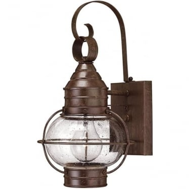 Cape Cod small wall lantern - Sienna Bronze