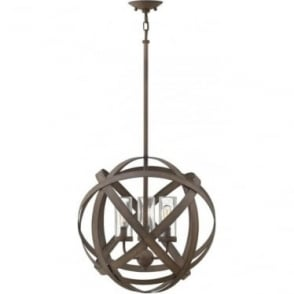Carson 3 Light Outdoor Chandelier Vintage Iron