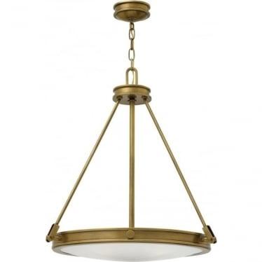 Collier 4 Light Pendant Heritage Brass